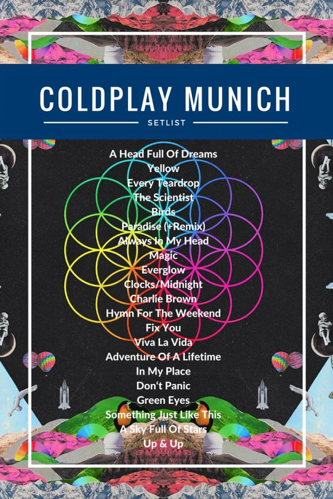 Coldplay Munich 2017 Setlist